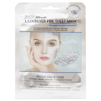 Satin Smooth Ultimate LuxSilver Foil Sheet Mask