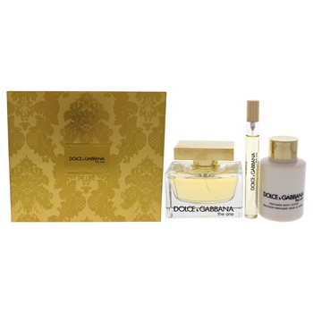 Dolce & Gabbana The One 2.5oz EDP Spray, 0.33oz EDP Spray, 3.3oz Perfumed Body Lotion