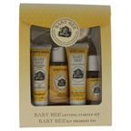 Burt's Bees Baby Bee Getting Started Kit 1.0oz Baby Bee Nourishing Lotion Original, 1.8oz Baby Bee Shampoo & Wash, 0.75oz Baby Bee Cream-to-Powder,1oz Baby Bee Nourishing Baby Oil, 0.8oz Baby Bee Bittermilk Soap