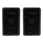 Shea Moisture African Black Soap Bar Acne Prone and Troubled Skin Pack of 2