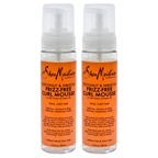 Shea Moisture Coconut & Hibiscus Frizz-Free Curl Mousse - Pack of 2