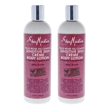 Shea Moisture Peace Rose Oil Complex Sensitive Creme Body Lotion - Pack of 2