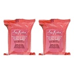 Shea Moisture Peace Rose Oil Complex Sensitive Skin Facial Wipes - Pack of 2