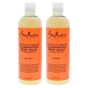 Shea Moisture Coconut & Hibiscus Shea Butter Wash Brightening & Toning - Pack of 2 Body Wash