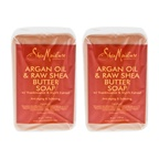 Shea Moisture Argan Oil & Raw Shea Butter Soap Anti-Aging & Softening - Pack of 2 Bar Soap