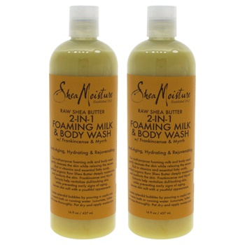 Shea Moisture Raw Shea Butter 2-In-1 Foaming Milk & Body Wash - Pack of 2