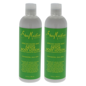 Shea Moisture African Water Mint & Ginger Detox Body Lotion - Pack of 2