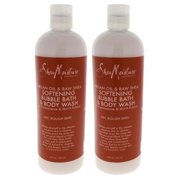 Shea Moisture Argan Oil & Raw Shea Softening Bubble Bath & Body Wash - Pack of 2