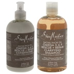 Shea Moisture Sacha Inchi Oil Omega-3-6-9 Rescue and Repair Clarifying Shampoo Duo Shampoo and Conditioner