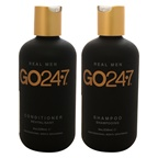 GO247 Real Men Shampoo and Conditioner Kit 8oz Shampoo, 8oz Conditioner