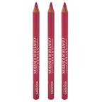 Bourjois Contour Edition Lip Liner - 03 Alerte Rose - Pack of 3