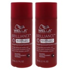 Wella Brilliance Shampoo For Fine to Normal Colored Hair - Pack of 2