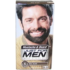 Just For Men Brush-In Color Gel Mustache & Beard Real Black # M-55