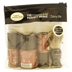 The Art of Shaving The Perfect Shave Carry on Kit - Sandalwood 1oz Pre-Shave Oil, 1.5oz Shaving Cream, 1oz After Shave Balm, Shaving Brush