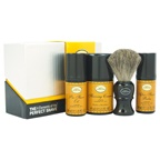 The Art of Shaving The 4 Elements of The Perfect Shave Mid-Size Kit - Lemon 1oz Pre-Shave Oil, 1.5oz Shaving Cream , 1oz After-Shave Balm , Pure Badger Black Shaving Brush