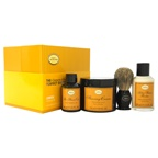 The Art of Shaving The 4 Elements of The Perfect Shave Kit - Lemon 2oz Pre-Shave Oil, 5oz Shaving Cream , 3.3oz After-Shave Balm , Pure Badger Black Shaving Brush