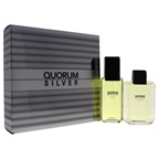 Antonio Puig Quorum Silver 3.4oz EDT Spray, 3.4oz After Shave Lotion