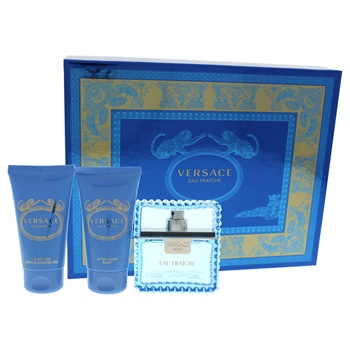Versace Versace Man Eau Fraiche 1.7oz EDT Spray, 1.7oz Bath and Shower Gel, 1.7oz After Shave Balm