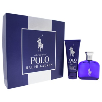 Ralph Lauren Polo Blue 2.5oz EDT Spray, 3.4oz Vitamin Enriched Shower Gel
