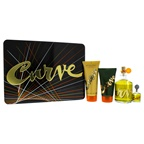Liz Claiborne Curve 4.2oz Cologne Spray, 0.25oz Cologne Splash, 3.4oz After Shave Balm, 2.5oz Shower Gel