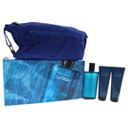 Davidoff Cool Water 4.2oz EDT Spray, 2.5oz Shower Gel, 2.5oz After Shave Balm, Navy Toilet Bag