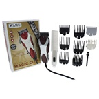 WAHL Professional 5 Star Magic Clip - Model # 8451 - White/Red Clipper