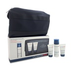 Clarins Grooming Essentials Kit 1.7oz Super Moisture Balm, 1.06oz Active Face Wash, 1.06oz Shampoo & Shower, Travel Bag