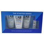 Lab Series The Starter Series 1oz Multi Action Face Wash, 1oz 3-in-1 Post Shave, 1oz Age Rescue Face Lotion, 0.15oz Pro Ls Lip Tech Lip Balm