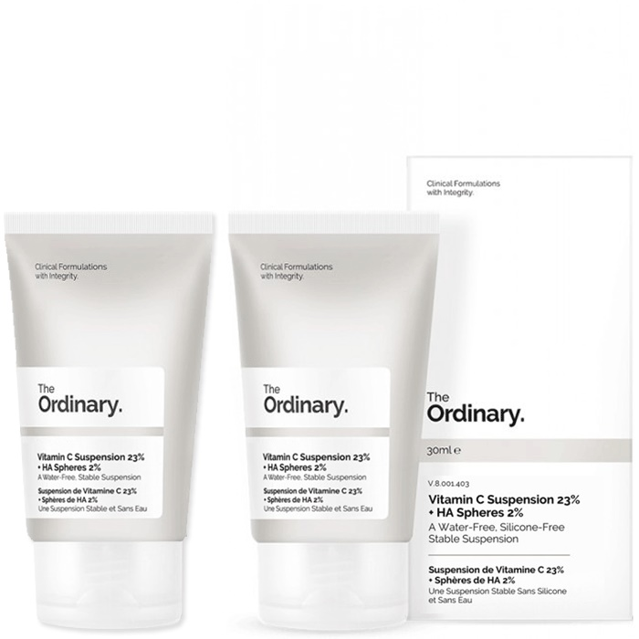 The Ordinary Vitamin C Suspension 23% + HA Spheres 2% [Double Pack]