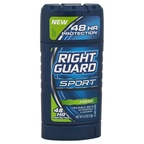 Right Guard Sport 3-D Odor Defense Antiperspirant & Deodorant Invisible Solid Fresh Deodorant Stick