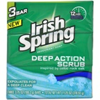 Irish Spring Clean Scrub Deodorant Soap