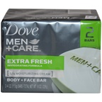 Dove Men + Care Body and Face Bars Extra Fresh Soap