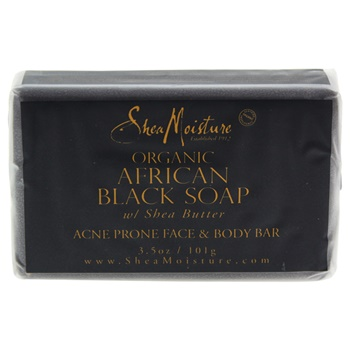 Shea Moisture Organic African Black Soap Acne Prone Face & Body Bar Soap