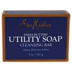 Shea Moisture Three Butters Utility Soap Cleanse Moisturize & Shine Bar Soap