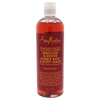 Shea Moisture Dragon's Blood & Caffe Cherry Rebound & Revive Bubble Bath & Body Wash