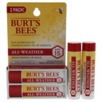 Burt's Bees All-Weather Moisturizing Lip Balm Twin Pack SPF 15