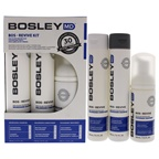 Bosley Professional Strength Bos Revive for Visibly Thinning Non Color Treated-Hair 5.01oz Nourishing Shampoo, 5.1oz Volumizing Conditioner, 3.4oz Thickening Treatment