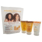 Mixed Chicks Travel & Trial Pack 2oz Shampoo, 2oz Deep Conditioner, 2oz Leave-In Conditioner