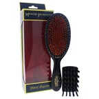 Mason Pearson Junior Mixture Bristle and Nylon Brush - BN2 Dark Ruby by Mason Pearson for Unisex - 2 Pc Hair Brus Hair Brush and Cleaning Brush