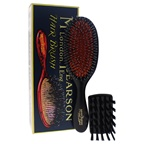 Mason Pearson Handy Mixture Bristle & Nylon Brush - BN3 Dark Ruby Hair Brush and Cleaning Brush