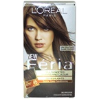 L'Oreal Feria Multi-Faceted Shimmering Color - 45 Deep Bronzed Brown-Warmer Hair Color