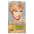 L'Oreal Feria Multi-Faceted Shimmering Color - 91 Light Beige Blonde-Cooler Hair Color
