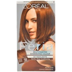 L'Oreal Paris Feria Multi-Faceted Shimmering Color 3X Highlights#58 Medium Golden Brown-Warmer Hair Color