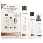 Nioxin System 4 Noticeably Thinning Hair Kit For Fine Hair 10.1oz Cleanser, 5.07oz Scalp Therapy, 3.38oz Scalp & Hair Treatment Foam
