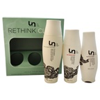 Unwash Rethink Clean Kit 13.5oz Bio-Cleansing Conditioner, 10oz Anti-Residue Rinse, 6.4oz Hydrating Masque