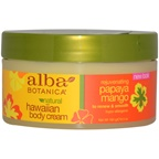 Alba Botanica Hawaiian Papaya Mango Rejuvenating Body Cream