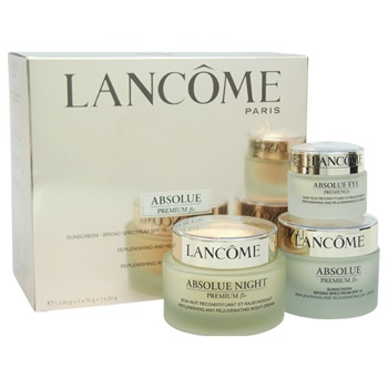 Lancome Absolue Premium Bx - Replenishing and Rejuvenating Day-Night & Eyes Ritual Set 1.7oz Absolue Premium Bx Sunscreen Broad Spectrum SPF 15 Replenishing and Rejuvenating Day Cream, 2.6oz Absolue Night Pre