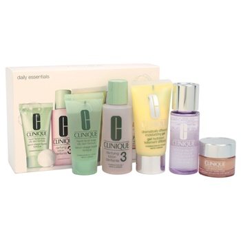 Clinique Daily Essentials Kit - Combination To Oily Skin 2oz Clarifying Lotion 3, 1.7oz Dramatically Different Moisturizing Gel, 1.7oz Take The Day Off Makeup Remover For Lids-Lashes & Lips, 1oz Liquid Facial