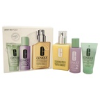 Clinique Great Skin 3-Step Skincare System - Dry Combination Skin Type 1oz Liquid Facial Soap Mild, 2oz Clarifying Lotion # 2, 6.7oz Dramatically Different Moisturizing Lotion +