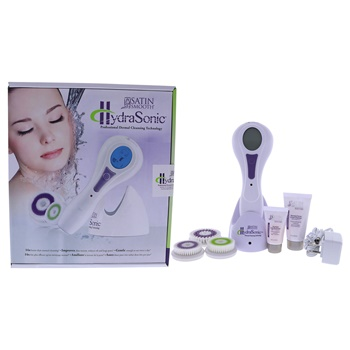 Satin Smooth Hydrasonic Professional Dermal Cleansing Technology Kit - White Hydrasonic Dermal Cleansing Unit, Sensitive Skin Facial Brush, Normal Skin Facial Brush, Body Brush, 1 oz. Renewal Facial Cream Cleanser